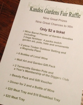 So many great prizes for gardeners! And thanks to our generous local sponsors.